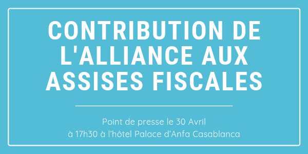 Point de presse : Contribution de l'Alliance aux assises fiscales 2019