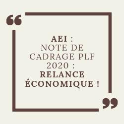 Note de cadrage PLF 2020 : Relance économique !