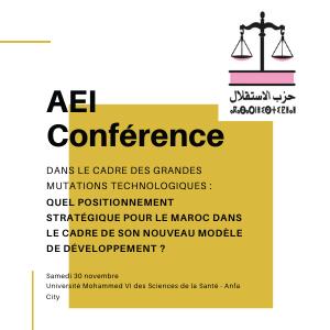 AEI : Conférence sur les grandes mutations technologiques et NMD Marocain