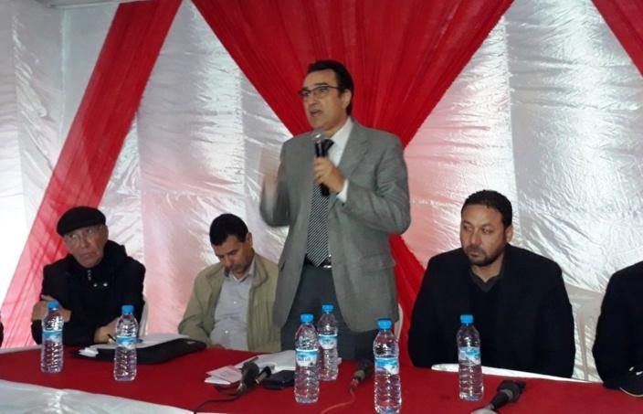 الأخ عزيز هيلالي يشرف على تجديد مكتب فرع حزب الاستقلال بسيدي علال التازي