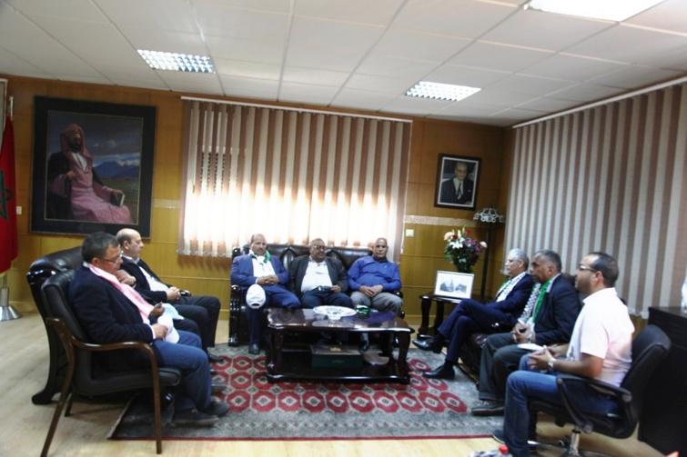 الأخ الأمين العام لحرب الاستقلال يستقبل وفدا من إدارة نادي هلال أريحا الفلسطيني