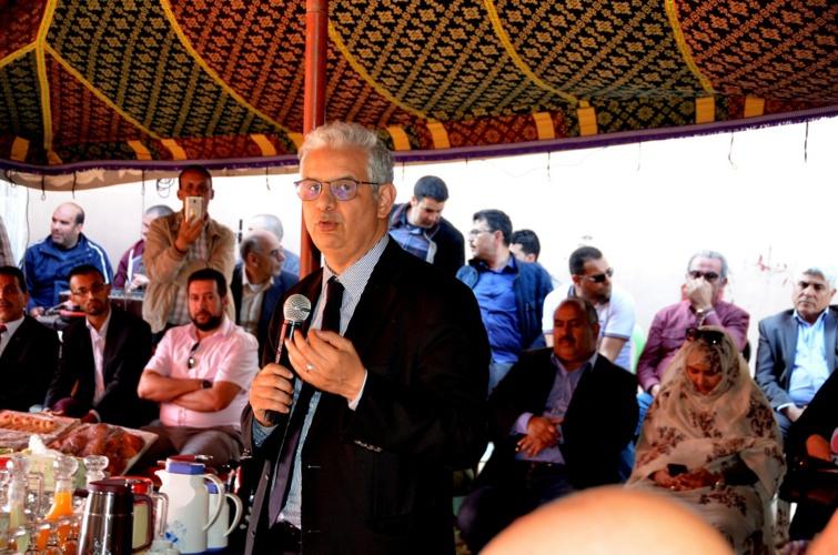 الأخ الأمين العام لحزب الاستقلالي يترأس لقاء تواصليا مع مناضلي وأطر الحزب بغفساي