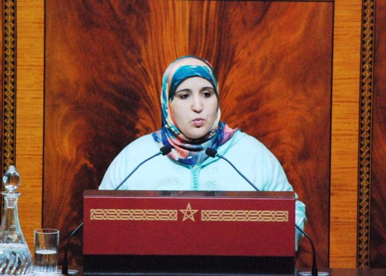 الأخت خديجة الرضواني : نصوت برفض المشروع الحكومي حول  التكوين المستمر لأنه لا يستجيب للمطالب الحقيقية للمستهدفين