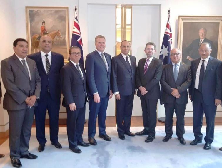 الأخ نورالدين مضيان ضمن وفد برلماني مغربي في زيارة لأستراليا تحت رئاسة السيد الحبيب المالكي