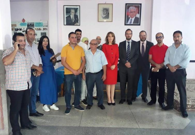 وفد رفيع المستوى عن السفارة البريطانية في زيارة مجاملة للمفتشية الإقليمية لحزب الاستقلال بالحسيمة