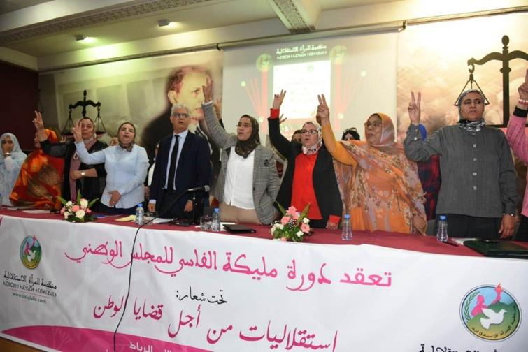 في بيان المجلس الوطني لمنظمة المرأة الاستقلالية