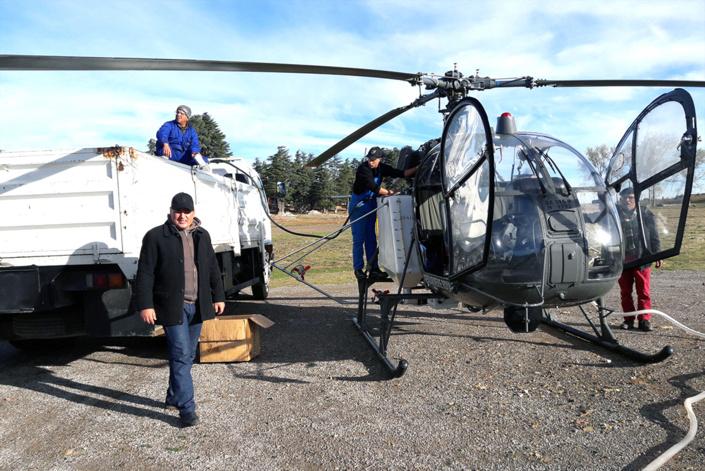 انطلاق العمليات الجوية لمحاربة دودة الصندل بجماعة إساكن بالحسيمة استجابة لتدخلات النائب البرلماني  نورالدين مضيان