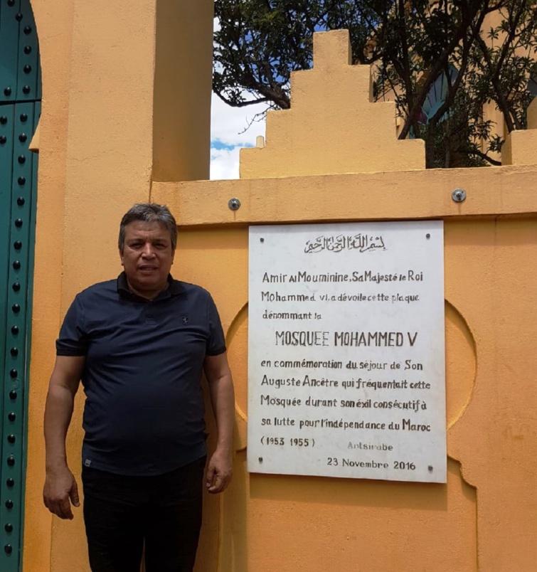 الأخ عبداللطيف أبدوح يزور مسجد محمد الخامس بمدينة أنسرابي بمدغشقر الشقيقة
