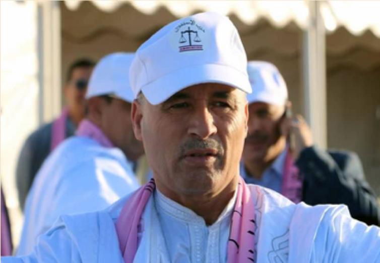 الأخ عبد الله امبيركات رئيس جماعة الدورة بالملتقى الجهوي الرابع لمستشاري حزب الاستقلال بطرفاية