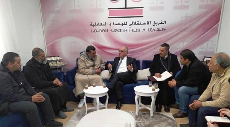 رئيس الفريق الاستقلالي بمجلس النواب في لقاء مع أعضاء الجمعية المغربية لبائعي اللحوم بالجملة لمدينة الأنوار
