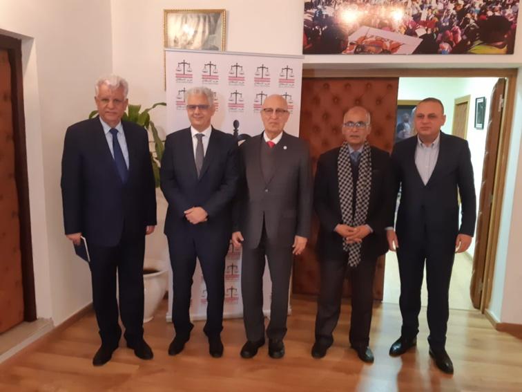الأخ الأمين العام لحزب الاستقلال يستقبل السيد نبيل شعث مستشار الرئيس الفلسطيني للشؤون الخارجية والعلاقات الدولية