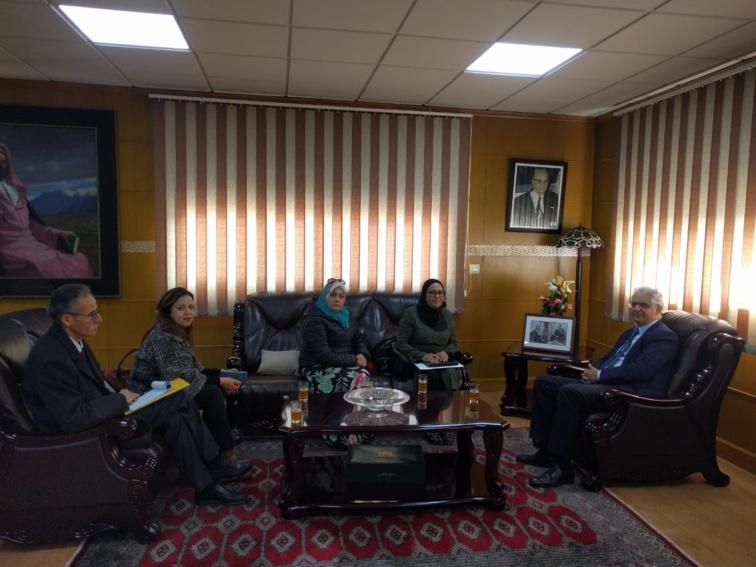 الأخ نزار بركة يستقبل المكتب التنفيذي للاتحاد الوطني للمتصرفين المغاربة