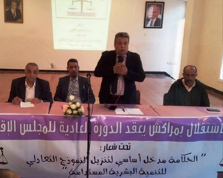 الأخ عبد اللطيف ابدوح يترأس المجلس الإقليمي لمدينة مراكش
