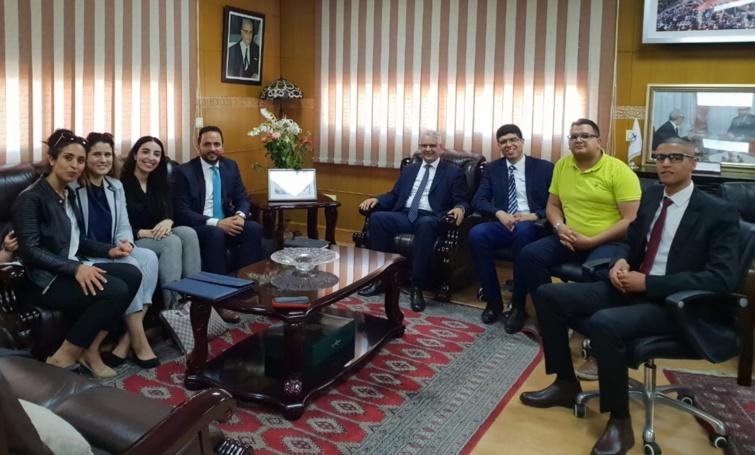 الأخ نزار بركة يستقبل رئيس وأعضاء حكومة الشباب المغربية
