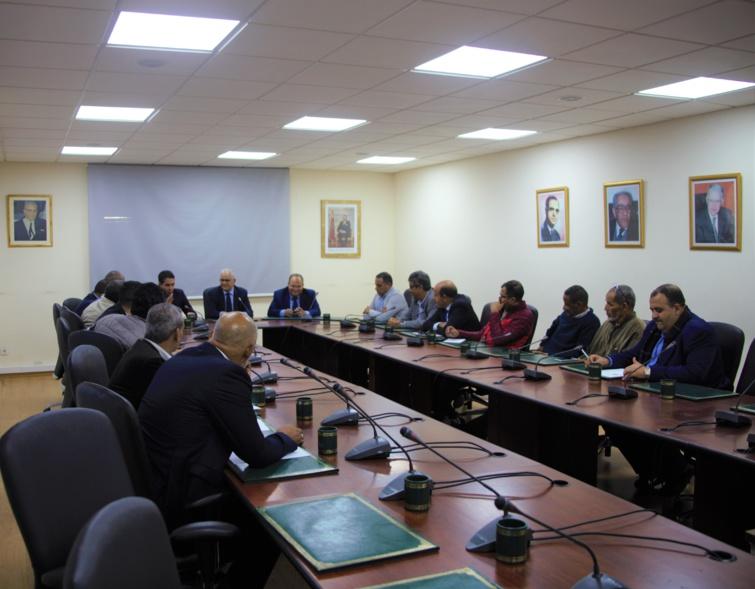 الأخ نزار بركة يستقبل مجموعة من رؤساء الهيئات والمنظمات الممثلة لقطاع النقل عبر الطرق والموانئ بالمغرب
