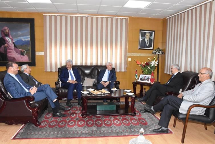 الأخ نزار بركة يستقبل السيد عباس زكي عضو اللجنة المركزية لحركة التحرير الوطني الفلسطيني فتح
