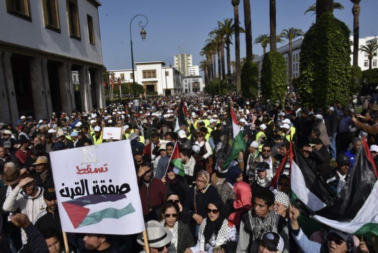 """الأخ نزار بركة : مسيرة الرباط رسالة رفض جماعية ل""""صفقة القرن"""" تعكس الإجماع الوطني المتجدد للشعب المغربي نصرة لفلسطين"""