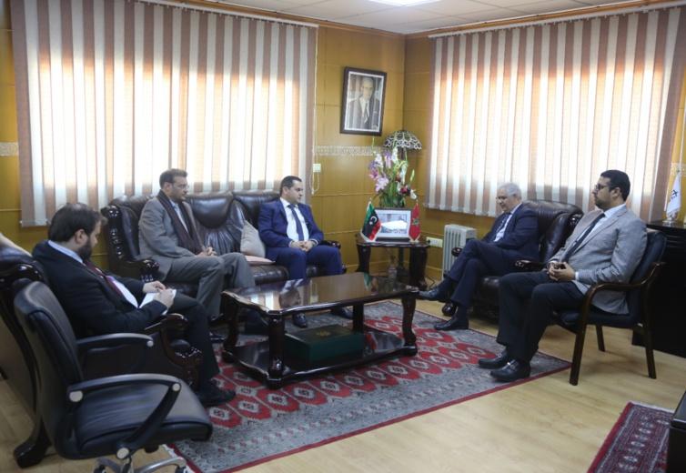 الأخ نزار بركة يستقبل السيد عبد الهادي الحويج مبعوث رئيس مجلس النواب الليبي المكلف بالشؤون الخارجية والتعاون الدولي ورئيس حركة المستقبل الليبية