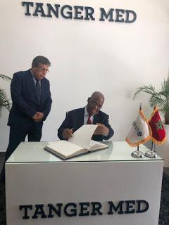 برلمانيو عموم إفريقيا يقومون بزيارة استطلاعية للميناء المتوسطي بطنجة لإطلاعهم على خدمات هذه المعلمة اللوجيستيكية الرائدة