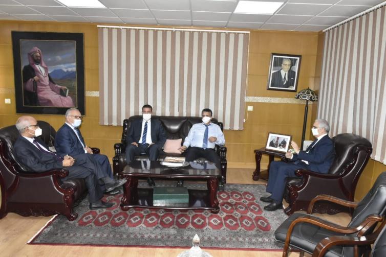 الأخ نزار بركة يستقبل الأستاذ عبد اللطيف وهبي الأمين العام لحزب الأصالة والمعاصرة