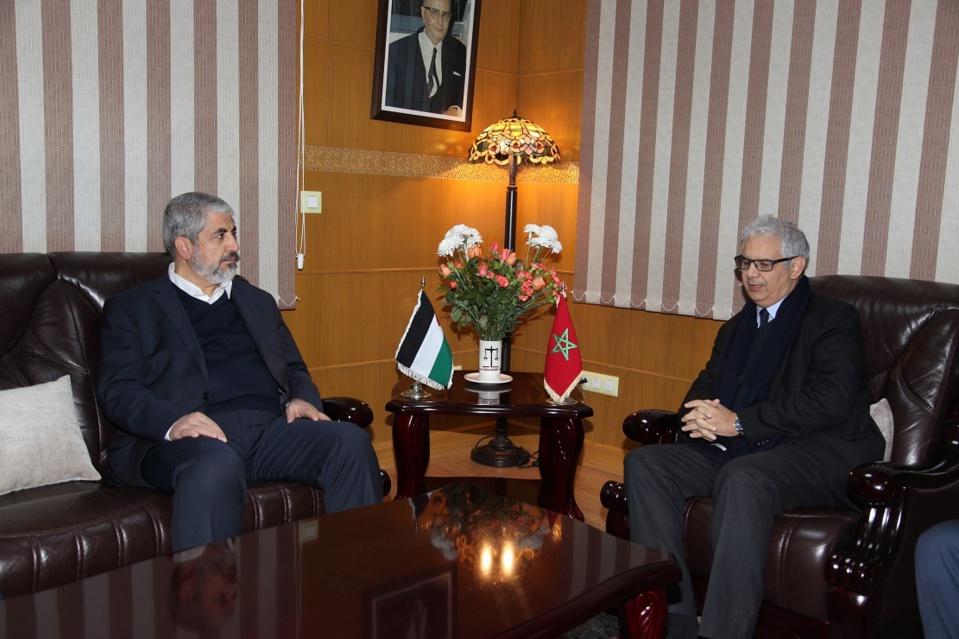 الأخ الأمين العام لحزب الاستقلال يستقبل السيد خالد مشعل الرئيس السابق للمكتب السياسي لحركة حماس
