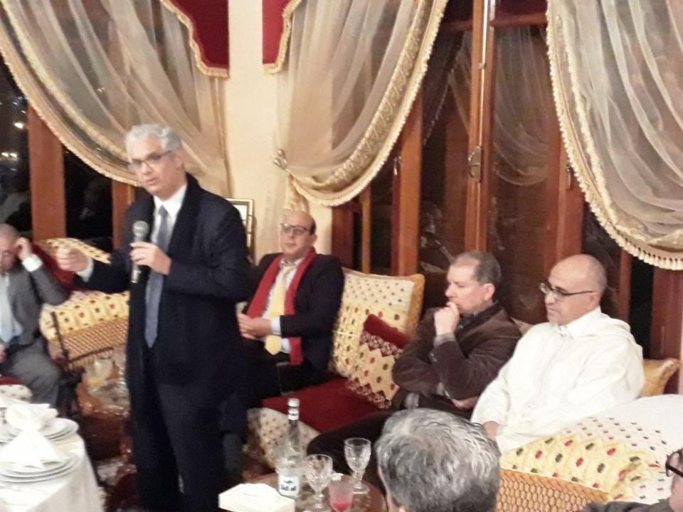 الأخ نزار بركة الأمين العام لحزب الاستقلال في لقاء تواصلي برجال الأعمال بطنجة
