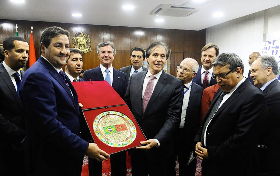 التوقيع على مذكرة تفاهم بين مجلس المستشارين المغربي ومجلس الشيوخ البرازيلي