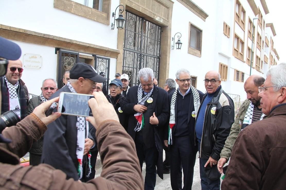 أمواج بشرية تتدفق على شوارع الرباط لنصرة القدس الشريف