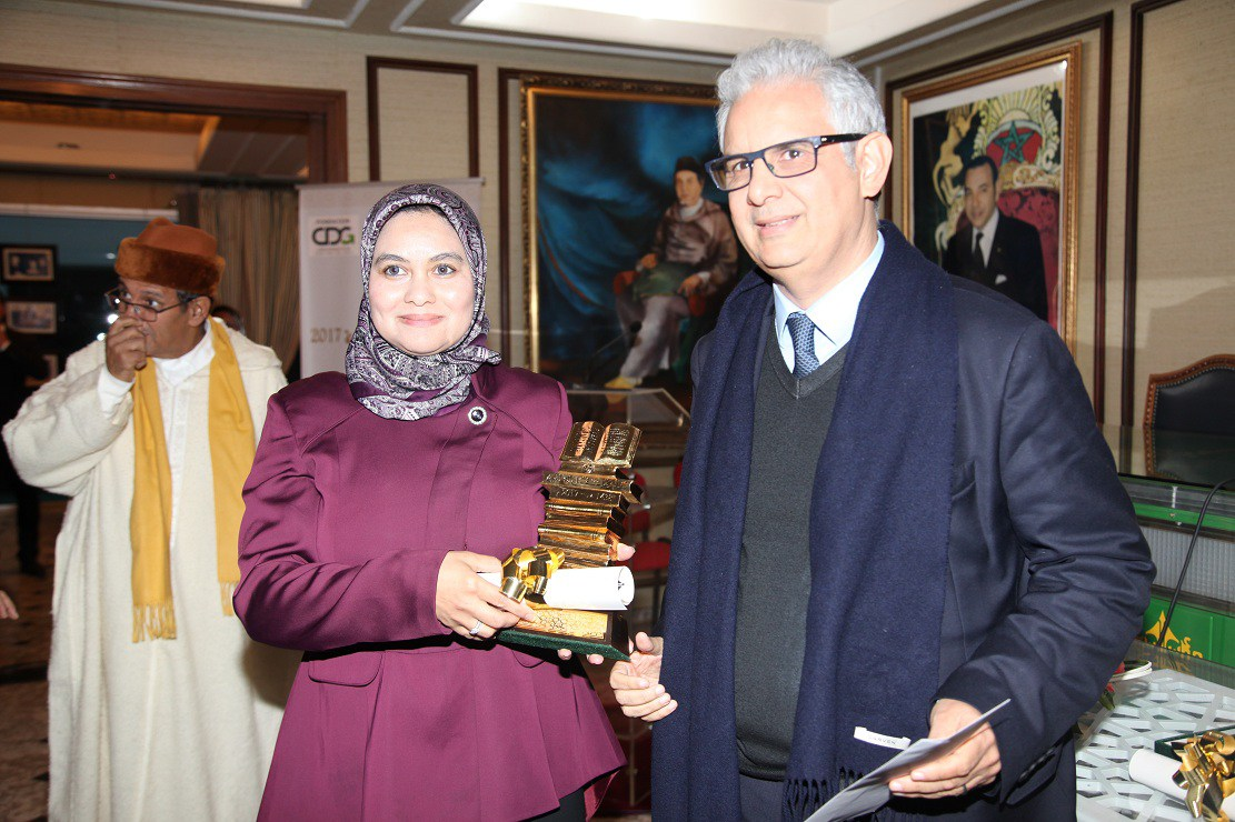 الأستاذة حنان العيسي والأستاذ موسى برلال يتوجان بجائزة علال الفاسي