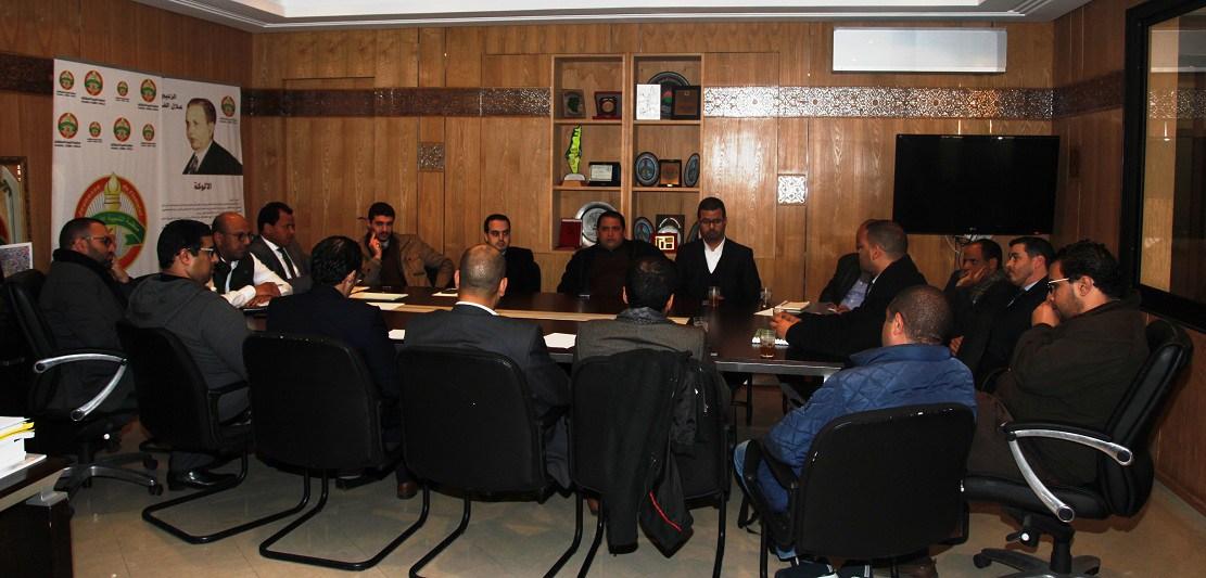 لأخ محمد ولد الرشيد المسؤول عن منظمات وروابط الحزب في لقاء مع المكتب التنفيذي للشبيبة الاستقلالية