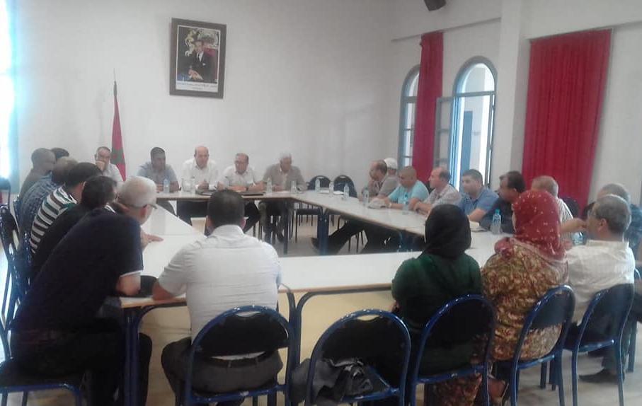 الأخ عبد الجبار الراشدي يترأس لقاء تنظيميا هاما بإقليم وزان