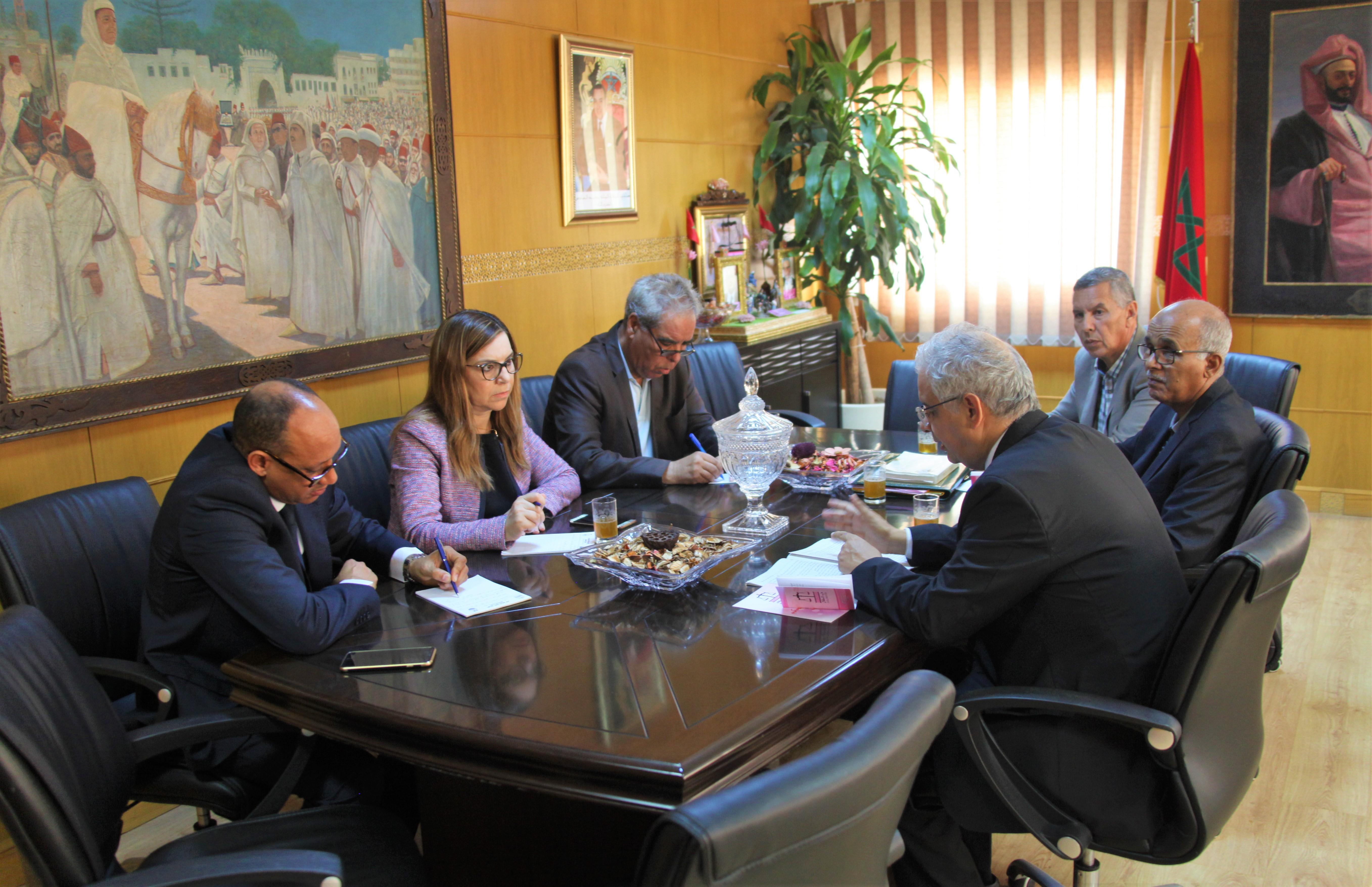 الأمين العام لحزب الاستقلال يستقبل اللجنة الوطنية للتحكيم والتأديب