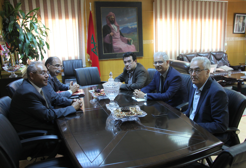 الأمين العام لحزب الاستقلال يستقبل اللجنة الوطنية للمراقبة المالية