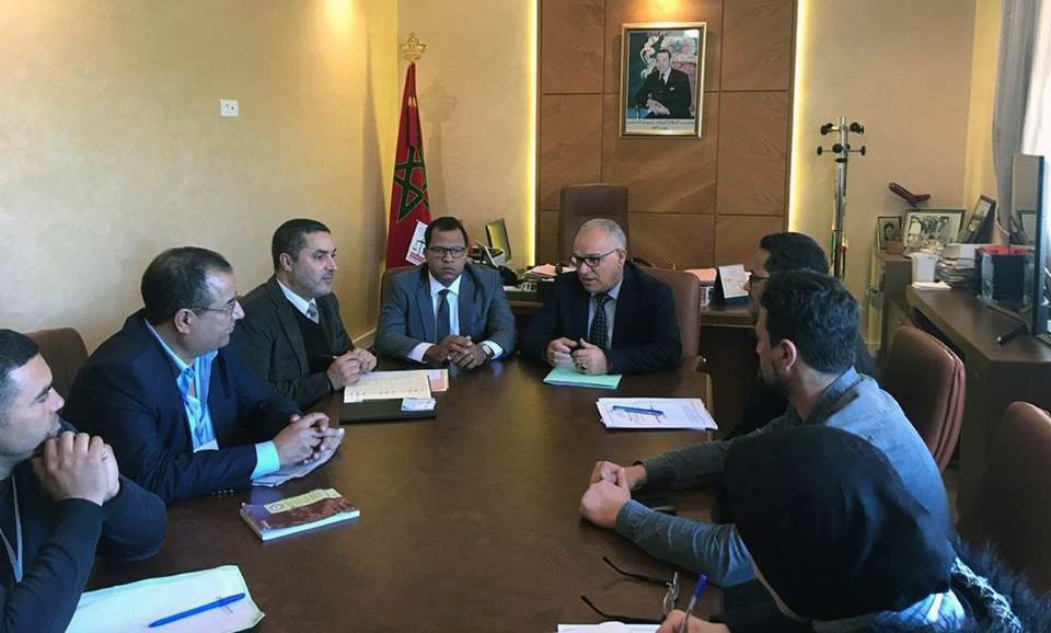 الأخ نورالدين مضيان يستقبل أعضاء الهيئة الوطنية للتقنيين بالمغرب