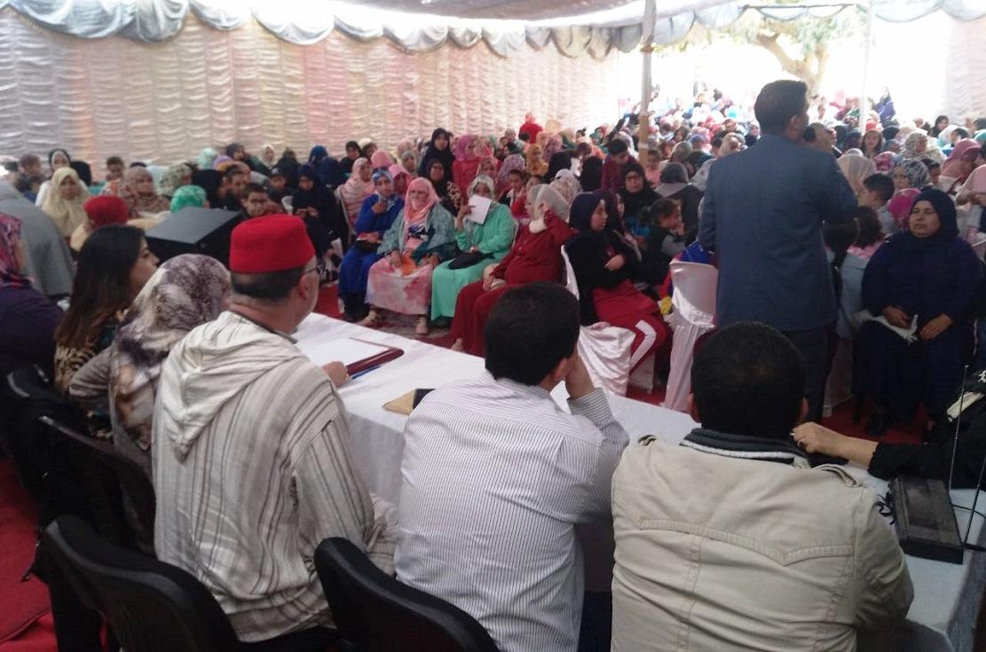 المرأة الاستقلالية بجماعة القليعة التابعة لعمالة إنزكان أيت ملول تحتفل  باليوم العالمي للمرأة