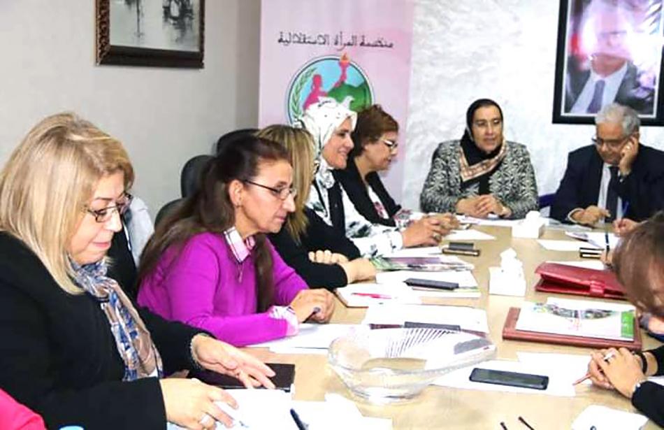 في اجتماع للمكتب التنفيذي لمنظمة المرأة الاستقلالية