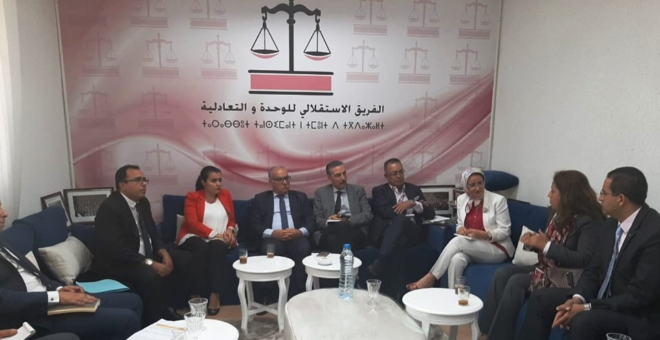 الجمعية المغربية للمحاسبين العموميين والائتلاف الوطني للمحاسبين المستقلين في ضيافة الفريق الاستقلالي