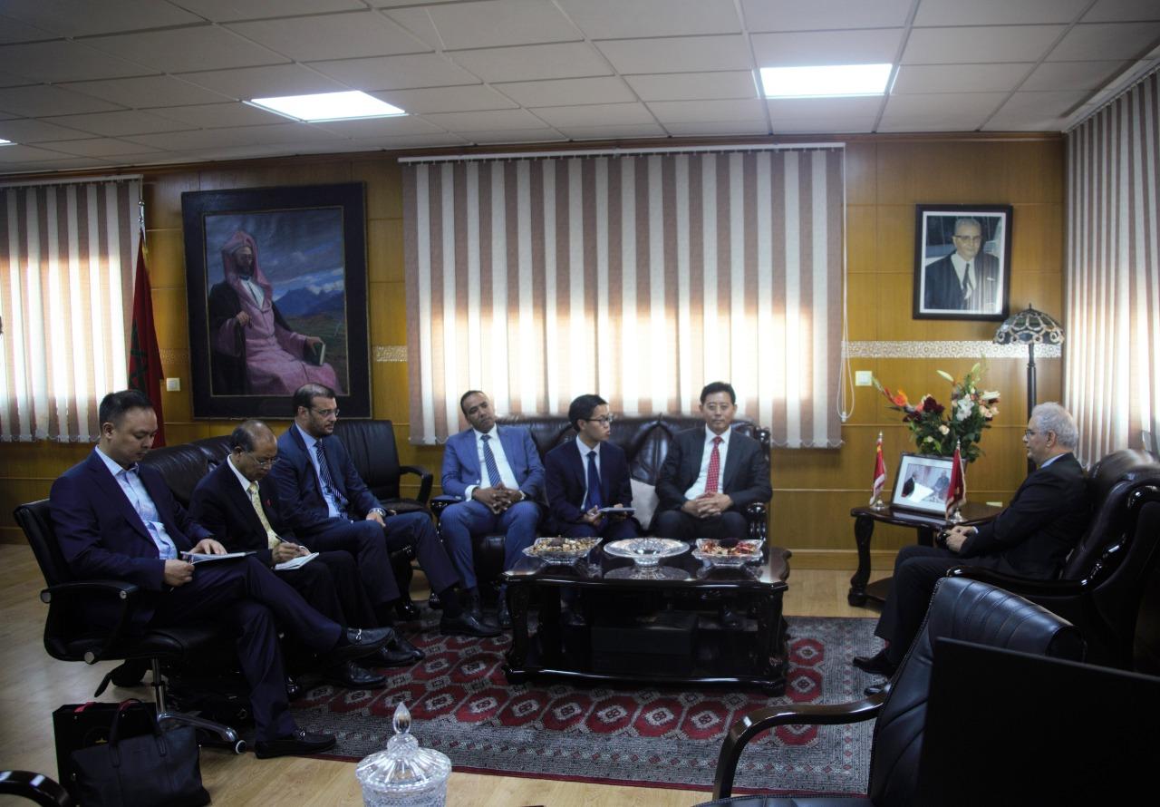 الأخ نزار بركة يستقبل السيد آن يوجون الأمين العام للرابطة الشعبية الصينية للسلام ونزع السلاح والوفد المرافق له