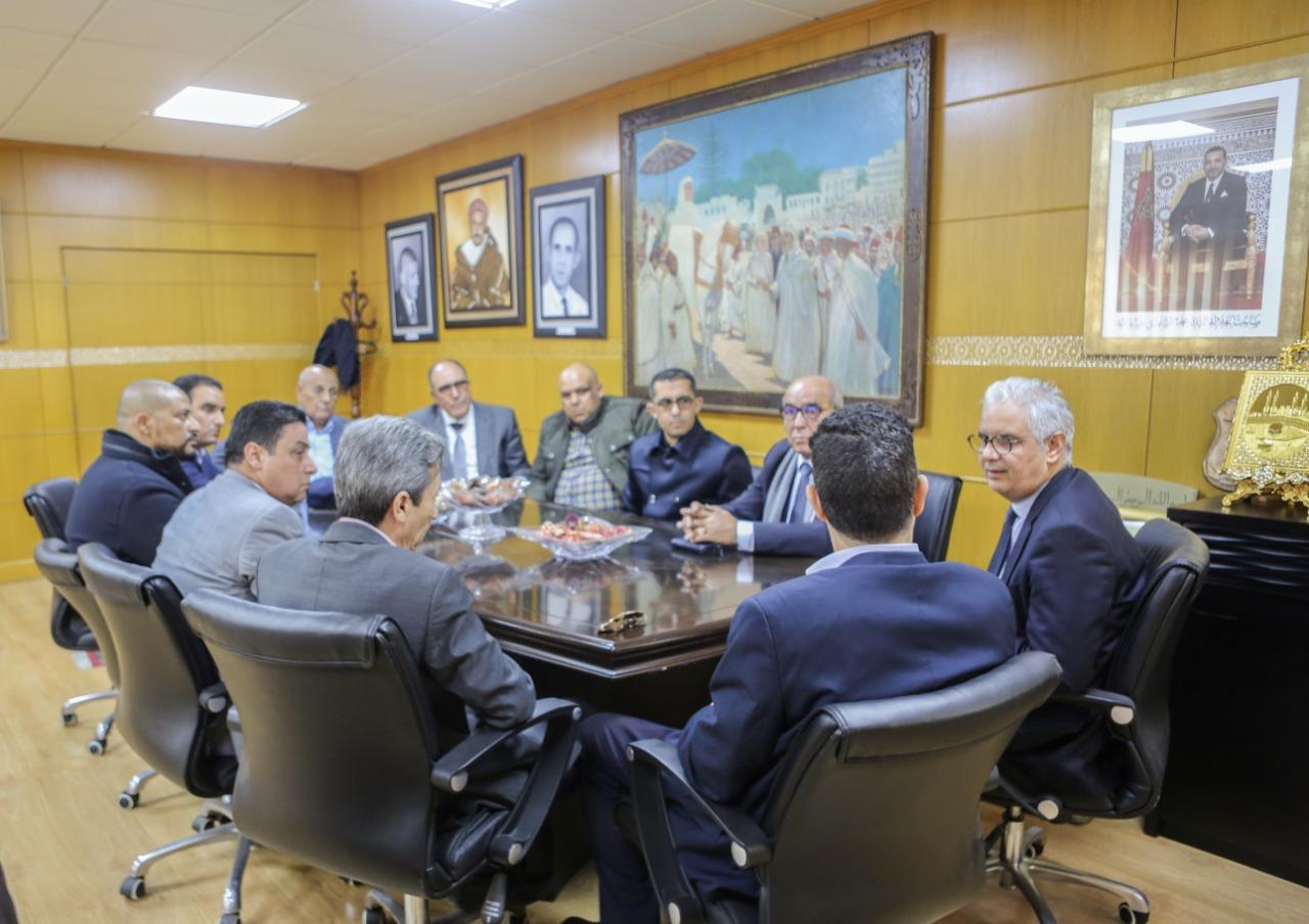 الأخ نزار بركة يستقبل السيد عبد المنعم الفتاحي الأمين العام لحزب العهد الديمقراطي والوفد المرافق له