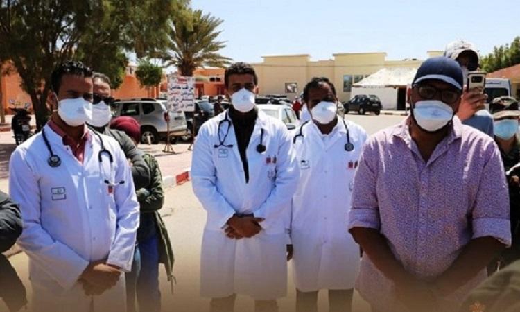 الحاج مولاي حمدي ولد الرشيد ووالي الجهة ورئيس مجلسها يشرفون على انطلاق أجرأه اتفاقية جديدة لدعم القطاع الصحي بالعيون