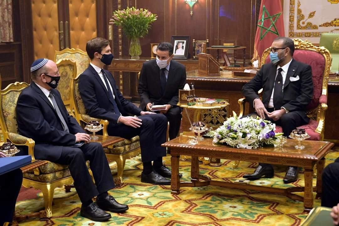 في بلاغ للديوان الملكي.. جلالة الملك محمد السادس  يستقبل كوشنر وبن شبات في وفد دبلوماسي مشترك