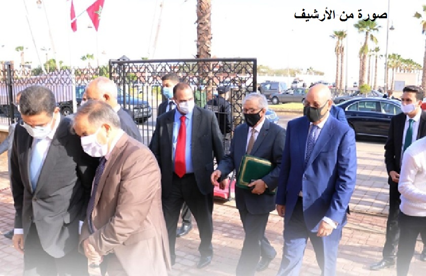 الأخ مولاي حمدي ولد الرشيد يشيد بالمهنية المتميزة والمسيرة الناجحة  للرئيس الأول لمحكمة الاستئناف بالعيون
