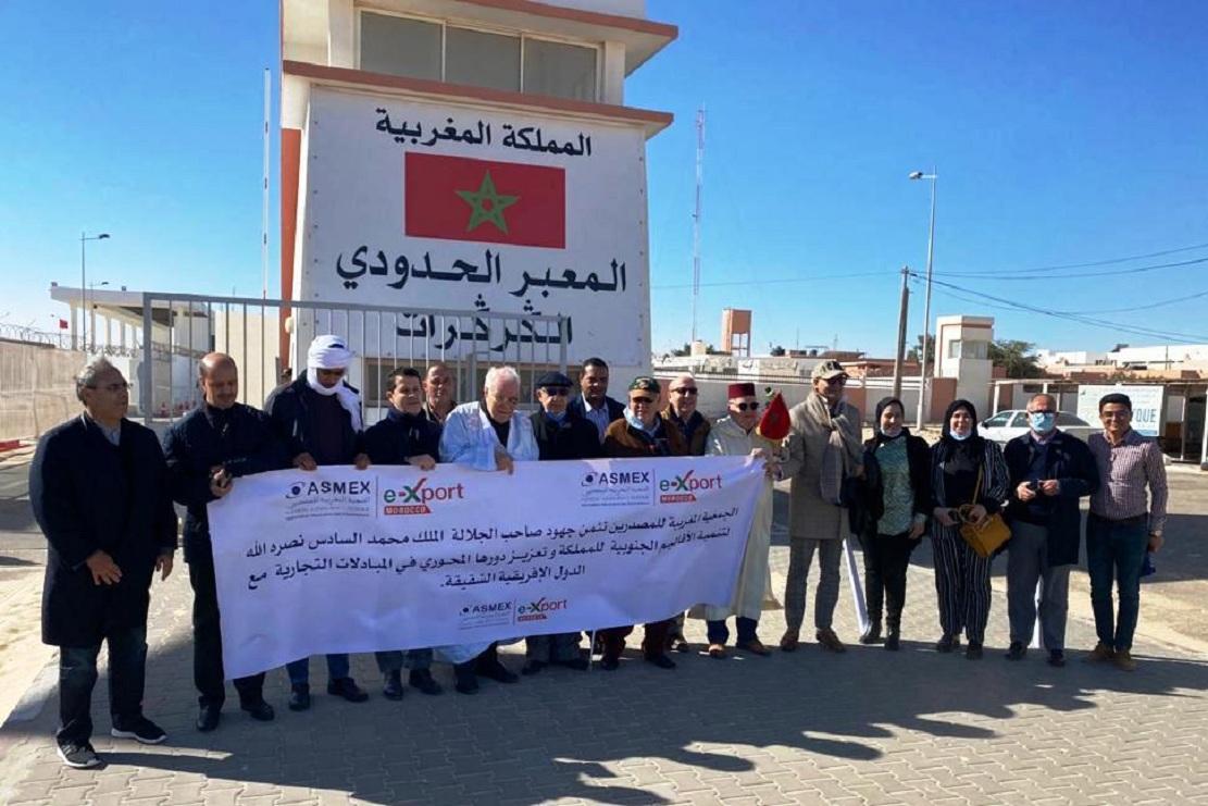 رئيس الجمعية المغربية للمصدرين حسن السنتيسي الادريسي في زيارة الى معبر الكركرات: