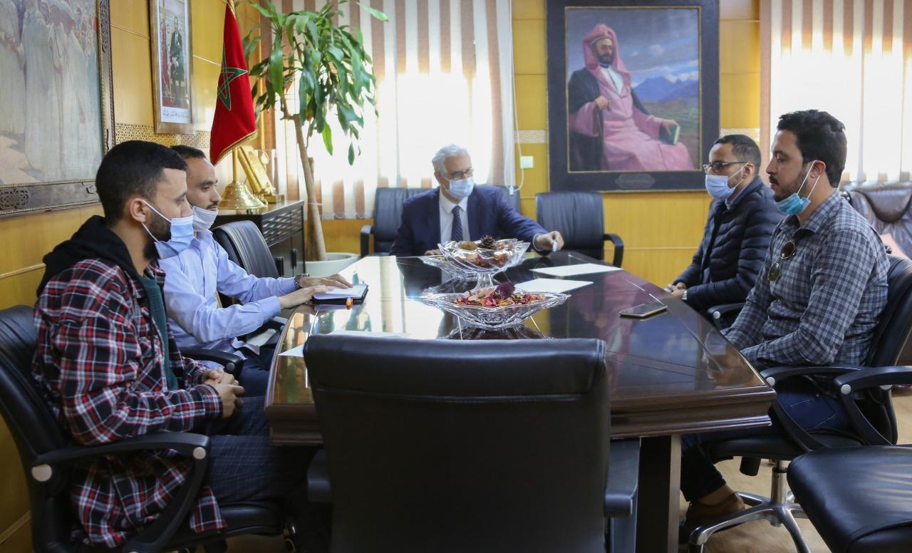 الأخ نزار بركة يستقبل لجنة الحوار المنبثقة عن التنسيقية الوطنية للأساتذة الذين فرض عليهم التعاقد