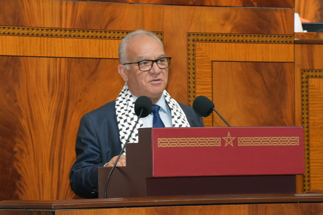 الأخ نورالدين مضيان: تضامن مطلق مع الشعب الفلسطيني ودعوة المنتظم الدولي  للتدخل من أجل وقف العدوان الإسرائيلي