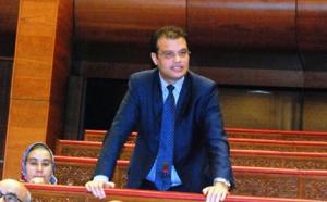 تدخل الأخ رحال مكاوي خلال الجلسة العامة السنوية التي تخصص لمناقشة وتقييم الاستراتيجية الوطنية للماء