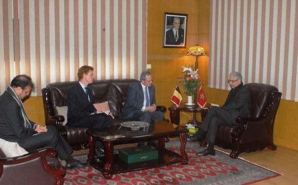 الأخ الأمين العام لحزب الاستقلال يستقبل سفير مملكة بلجيكا المعتمد بالرباط