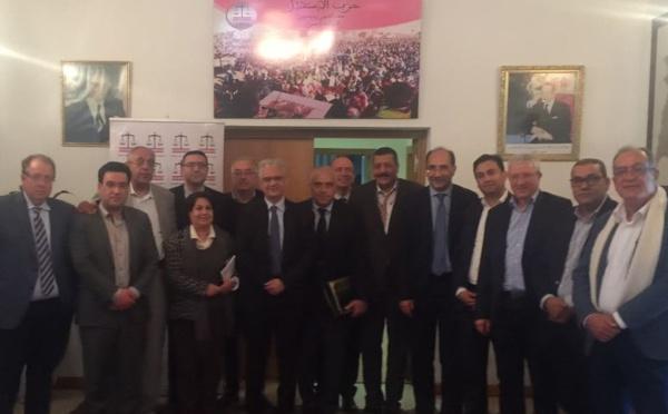 استقبال الأخ نزار بركة الأمين العام لحزب الاستقلال لأعضاء المكتب التنفيذي لرابطة الاقتصاديين الاستقلاليين