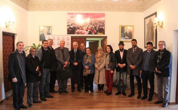الأخ نزار بركة يستقبل وفدا عن المكتب المركزي للعصبة المغربية للدفاع عن حقوق الانسان