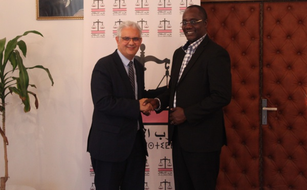 """الأخ نزار بركة يستقبل السيد فينسن مشينجي الأمين العام لحزب الديمقراطية والتقدم التنزاني """"شاديما"""""""